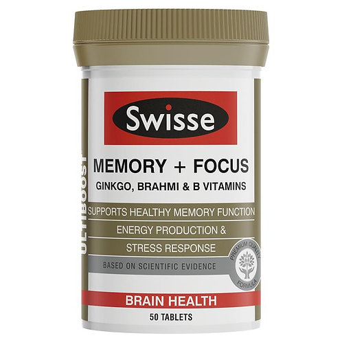 Swisse Ultiboost Memory + Focus 50 Tablets