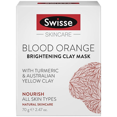 Swisse Skincare Blood Orange Brightening Clay Mask 70g