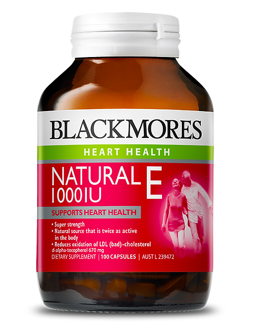 Blackmores Natural E 1000IU 100Caps