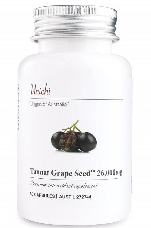 Unichi Tannat Grape Seed 26000mg 60 Capsules