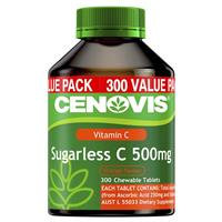 Cenovis Vitamin C 500mg Sugarless 300 Chewable Tablets