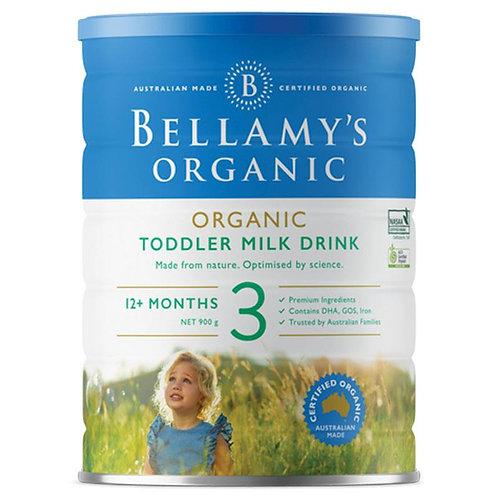 Bellamy's Organic Toddler Milk Drink Step 3 900g