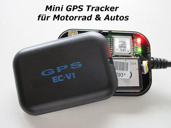 Mini GPS Tracker für Motorrad & Auto Model EC-V1