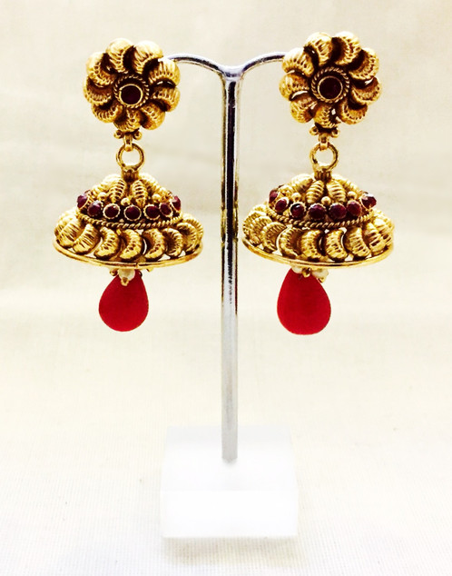 jhumka jewellery tanishq earrings gold