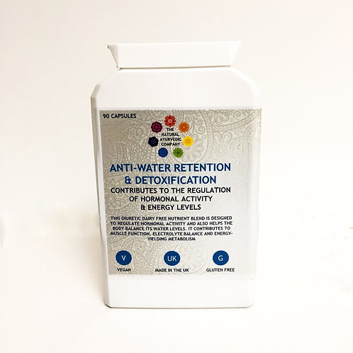 Anti water retention & detoxification   Oedema   Herbal   Bloating   The Natural Ayurvedic Company   Supplement   Tablets