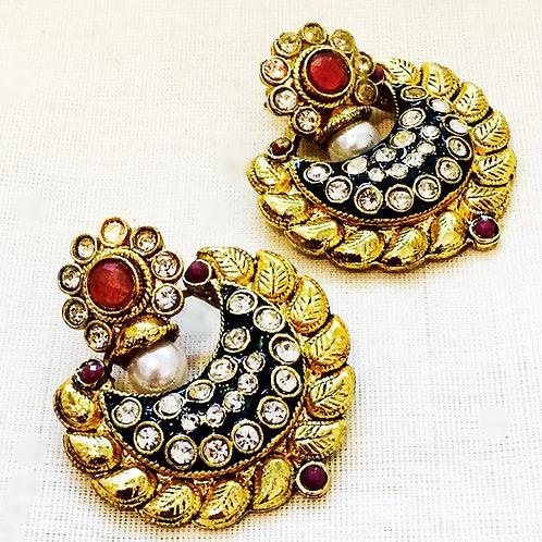 Earrings,Indian Earrings,GoldEarrings,Drop Earrings,Hoop Earrings,GoldHoop Earrings,Gold Pearl Earrings,Bejewelled Bazaar