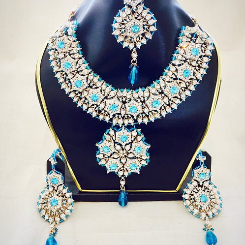 Indian Jewellery,Indian Bridal Jewellery,Bollywood Jewellery Set,American Diamond Jewellery,Bejewelled Bazaar