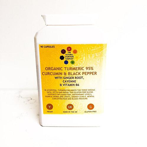 Organic Turmeric Curcumin Black Pepper | Health Supplements | Turmeric capsules | Turmeric | The Natural Ayurvedic Company