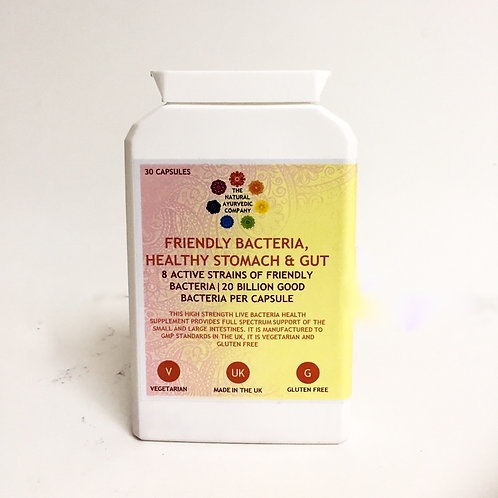 Friendly Bacteria Healthy Stomach & Gut | Health Supplements | The Natural Ayurvedic Company | Nutrition | Flat Stomach