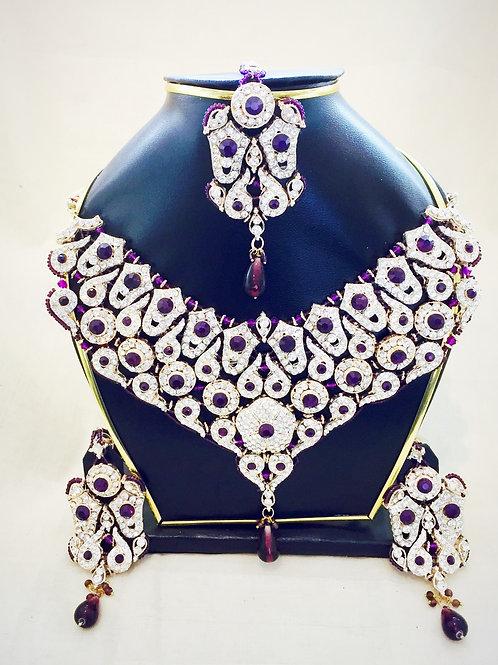 Indian Jewellery,Indian Bridal Jewellery,Bollywood Jewellery Set,American Diamond Jewellery,Bejewelled Bazaar