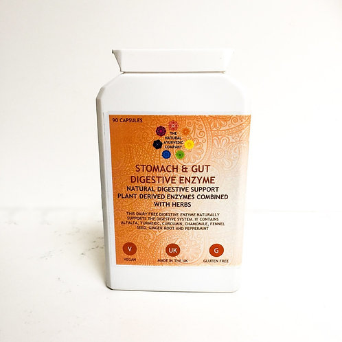 Stomach & Gut Digestive Enzyme | Flat Stomach | The Natural Ayurvedic Company |Supplements | Health | Vitamins | Digestion