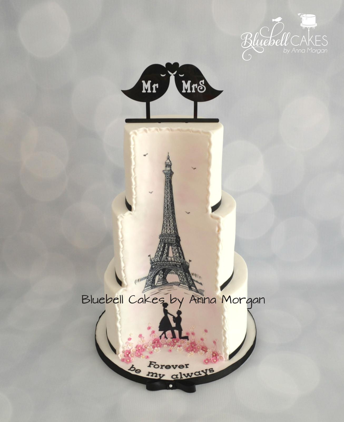 Romantic Paris Wedding Cake