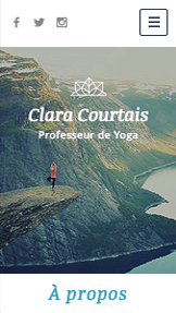 Bien-être website templates – Professeur de Yoga