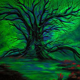 Tor zum Wunderwald, Auftragsarbeit (unter Schwarzlicht)