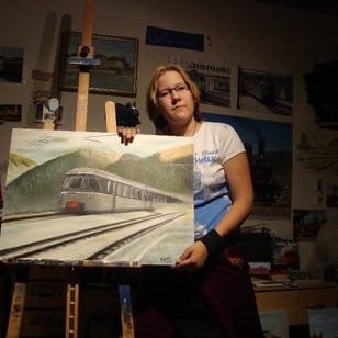 Als ich noch 17 war...Eisenbahnen waren da schon Mittelpunkt meiner Malerei