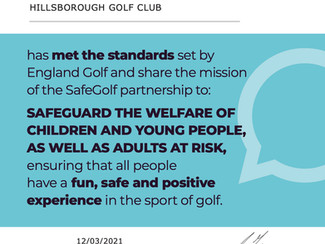 Safe Golf Accreditation