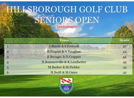 Seniors Open Final Result