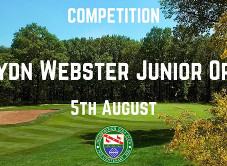 Haydn Webster Junior Open