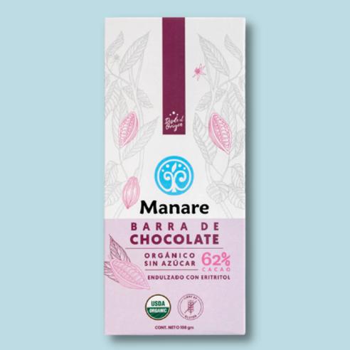 BARRA DE CHOCOLATE 62% CACAO