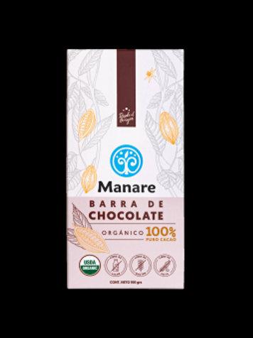 BARRA CHOCOLATE ORGÁNICO 100% CACAO