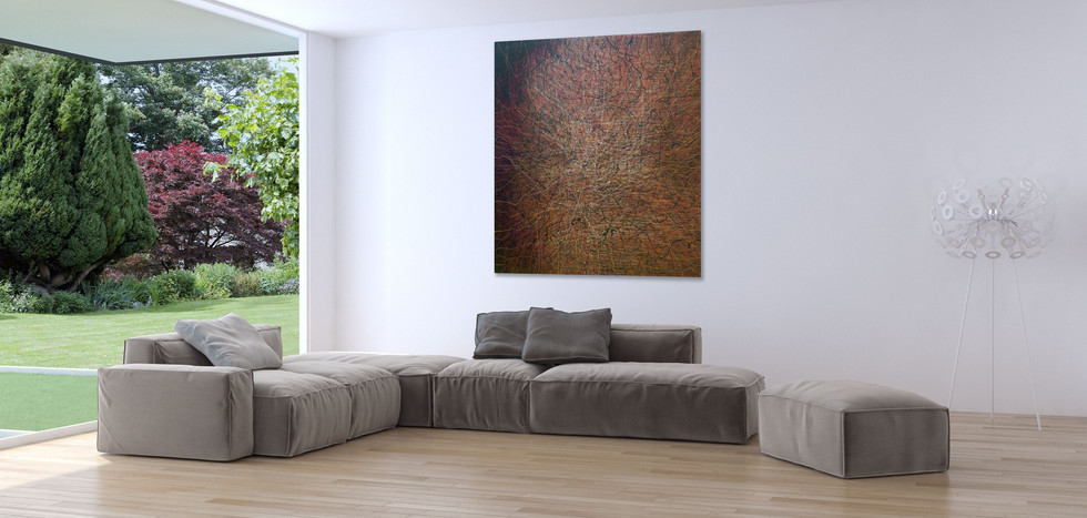 Neural Networks. Acrylic on canvas. 1.8m x 1.8m