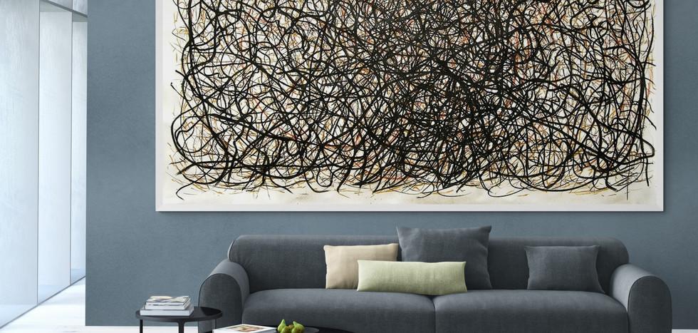 Roots. Pastel on paper. 2.8 m x 1.5m