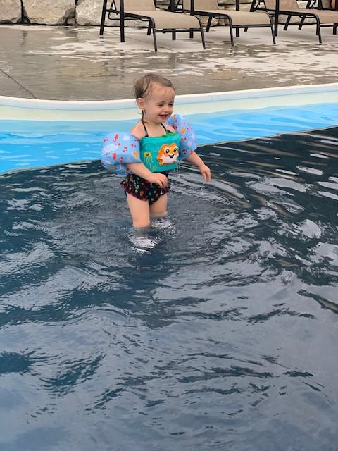 Charli Swimming