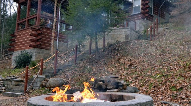 A nice fire in the firepit.  Smores anyone?