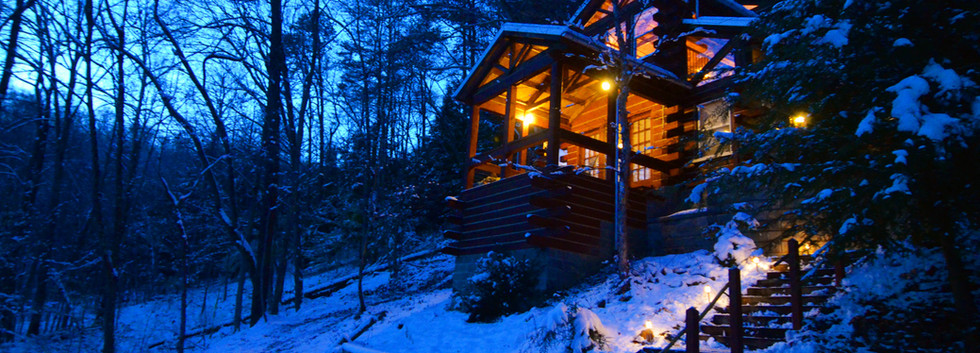 Cabin in the winter time.