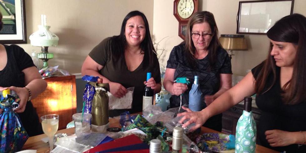 Wine Bottle Decorating Party