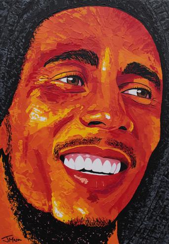 Bob Marley acrylic painting 'Soul Rebel'