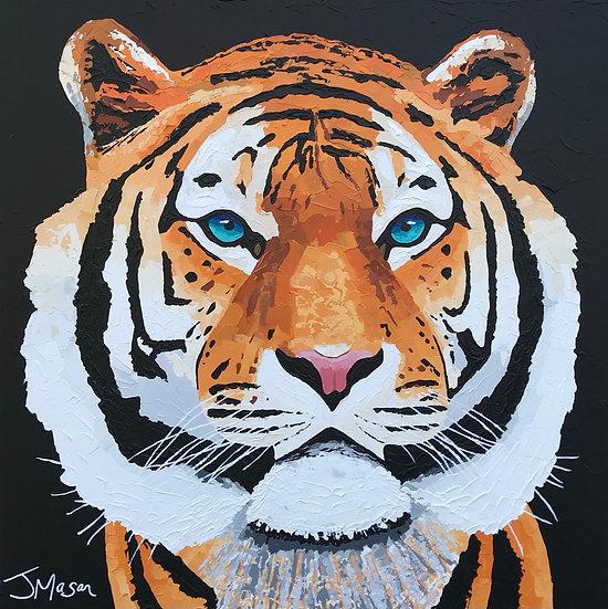 """Tiger"" 90cm x 90cm"