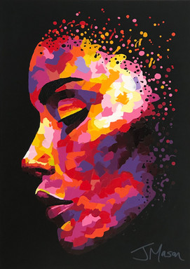 Abstract female portrait - 70cm x 50cm
