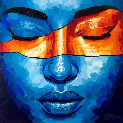 Temporary Bliss. Acrylic portrait on canvas