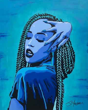 Blue devotion - 100cm x 80cm