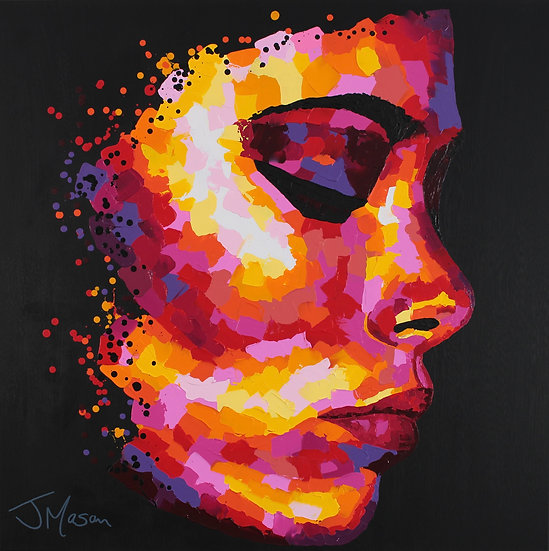 """""""Out of Sight""""  90cm x 90cm"""