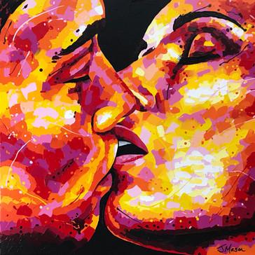 Velvet Kiss - 90cm x 90cm