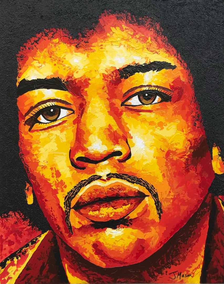 Jimi Hendrix painting. Acrylic art on canvas