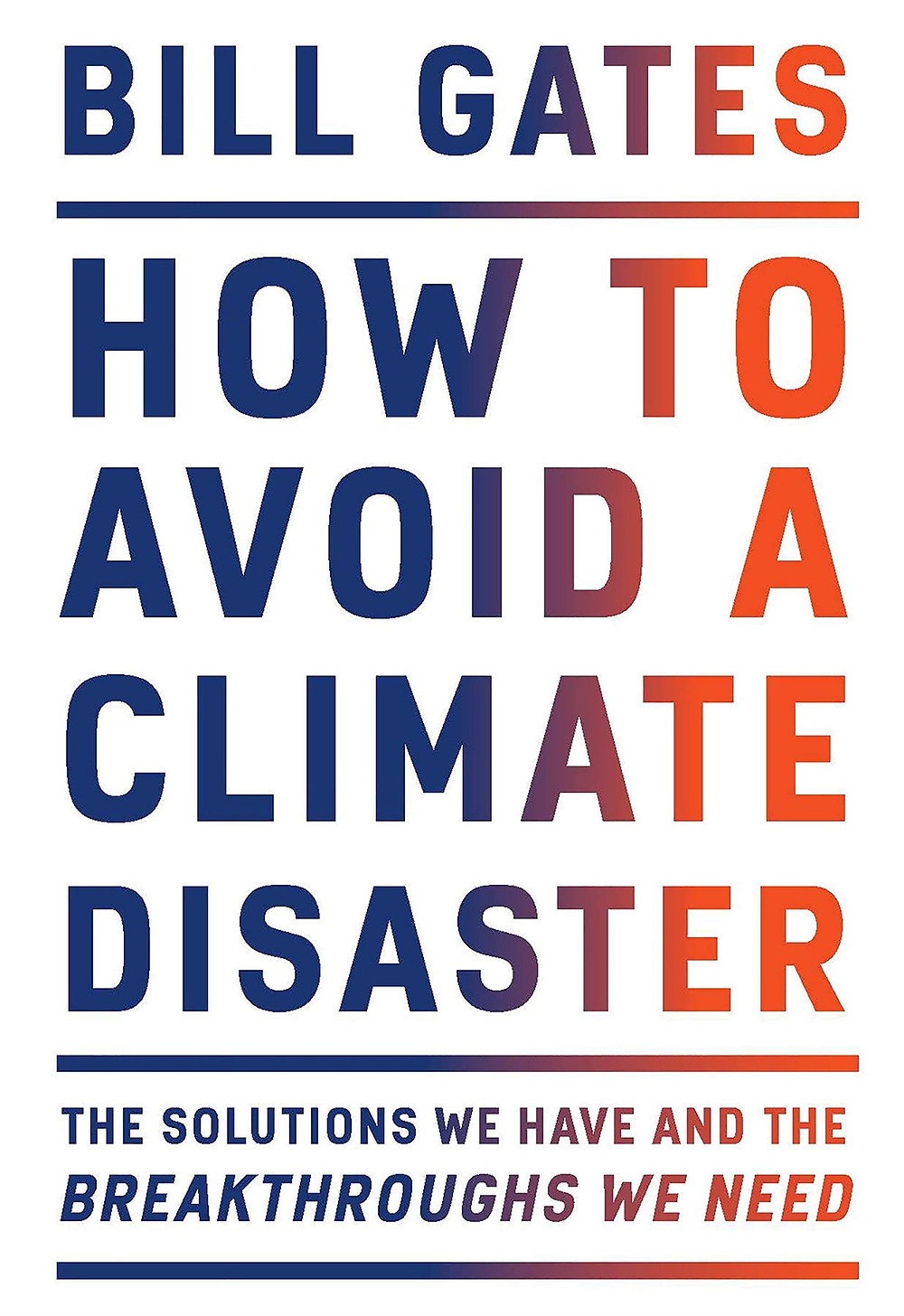 Cover of Bill Gates' book on How to Avoid a Climate Disaster
