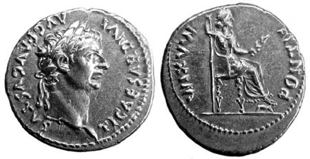 Ancient roman coins, with emperor imprint