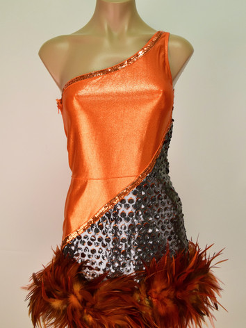 Orange feather dress.JPG