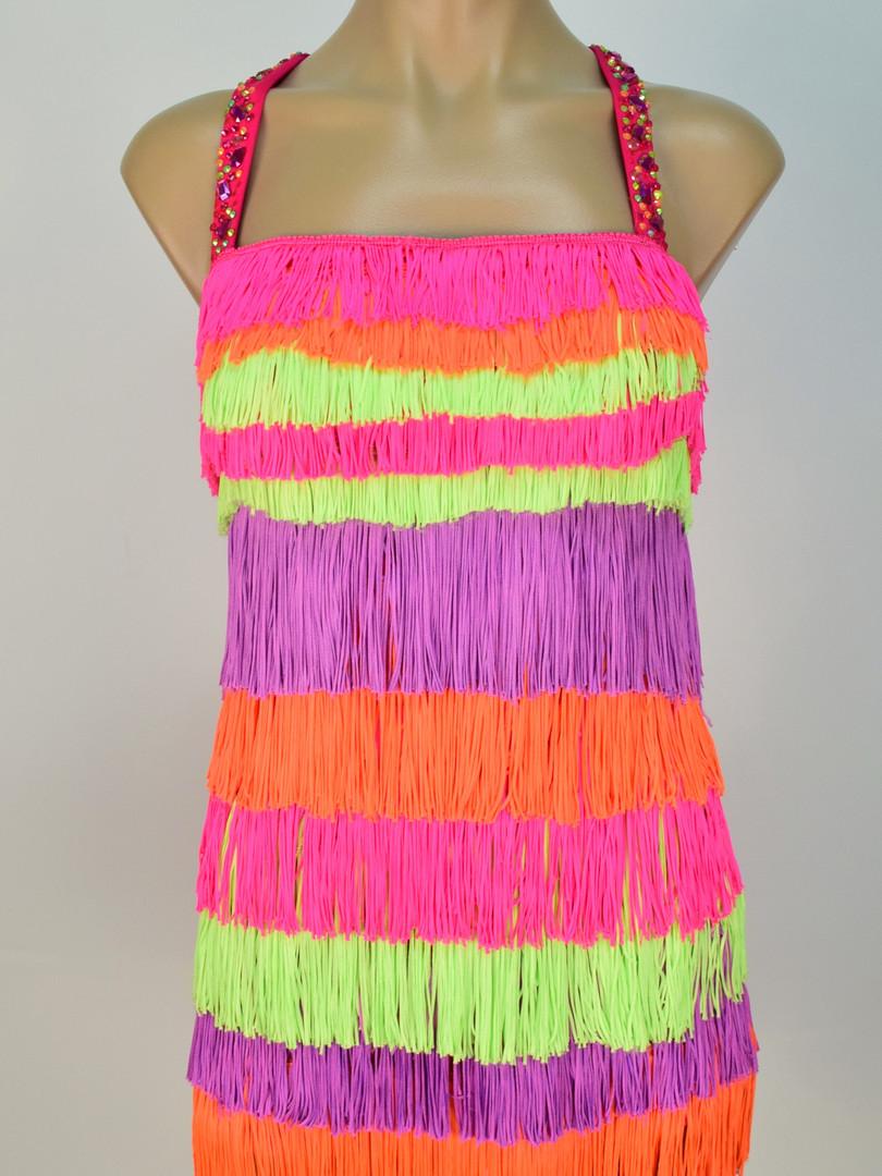 Fluro fringe dress.JPG