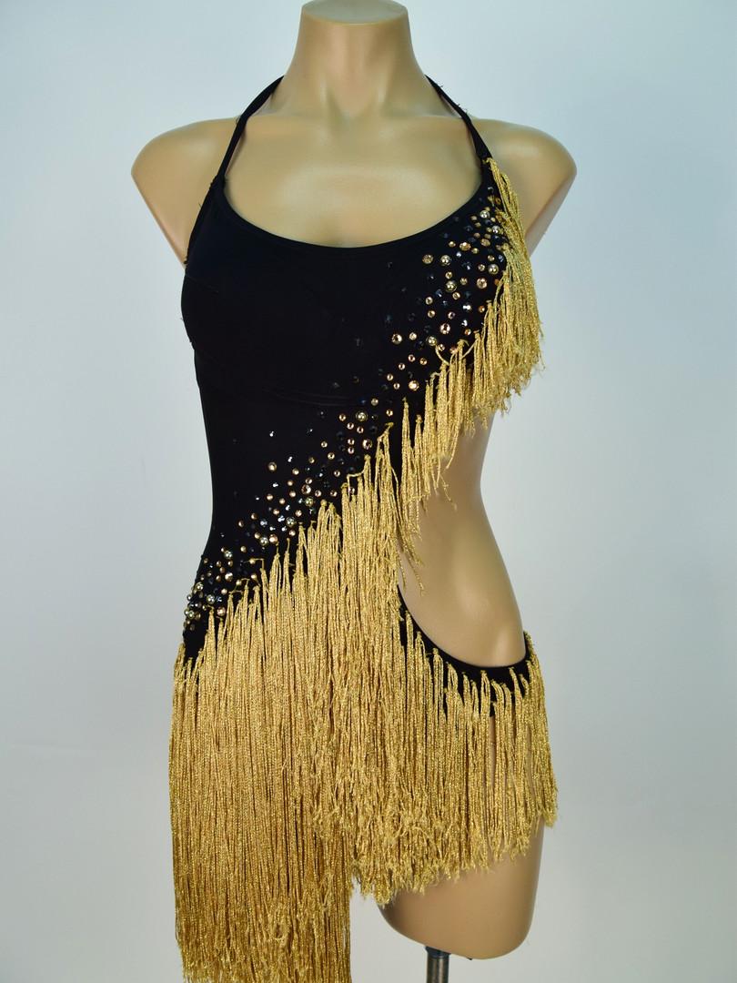 Gold fringe latin dress.JPG