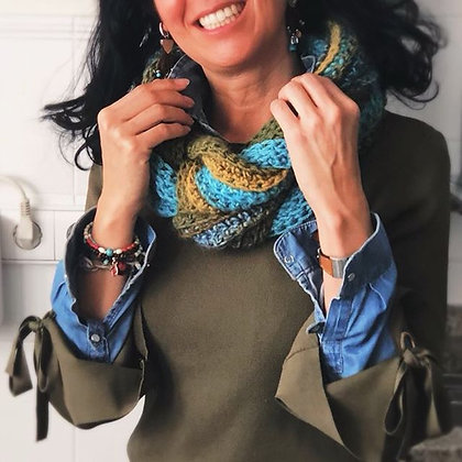 Cuello lana combinada pequeño