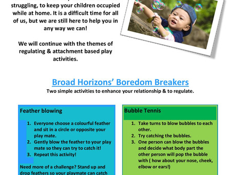 Broad Horizon's Newsletter 22.04.20