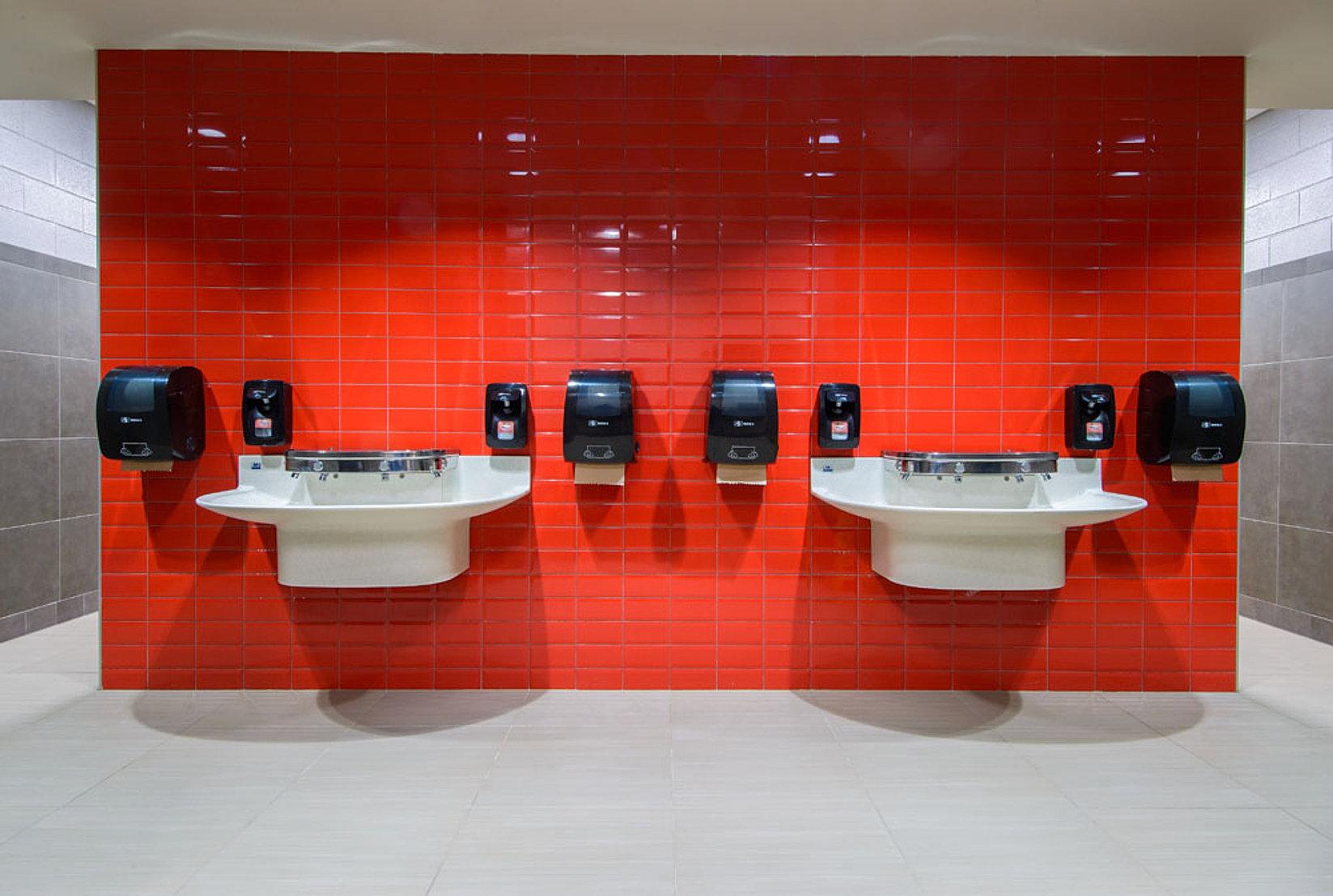elementary school bathroom. Chisholm Elementary School Bathroom