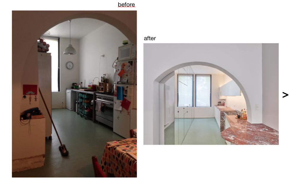une cuisine avant et après