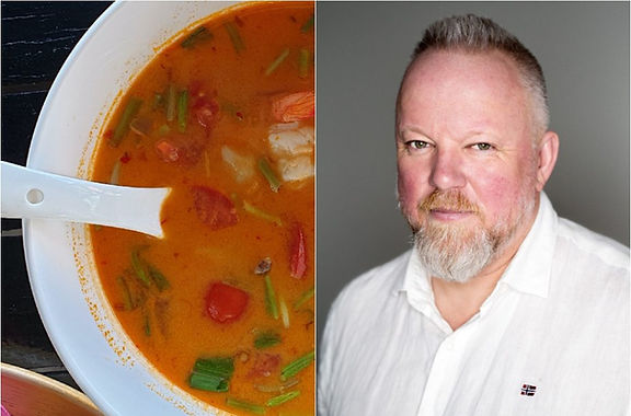 Tom Yam sriuba su krevetėmis