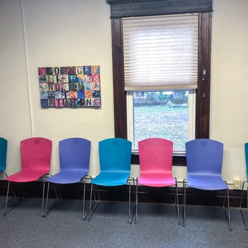 #76 The Marquette Armless Sled Base Chair