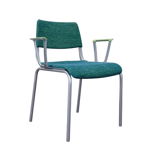 Arc Upholstered 4-Leg Arm Chair